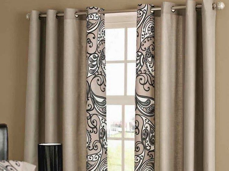 Simple Living Room Curtains Pattern In Solid Curtain