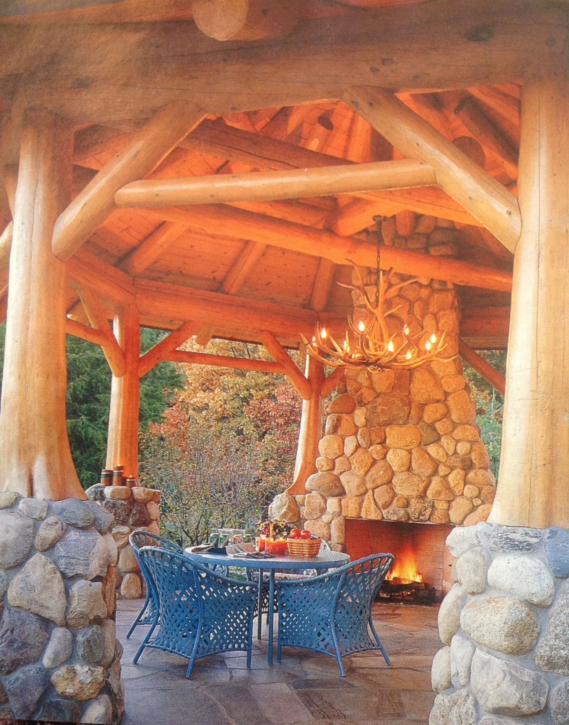 This is our dream Pavilion at the Lake House. Now we know ... Native Rock Log Home Designs on rock churches, rock lake homes, rock lake cabins, rock and log house,