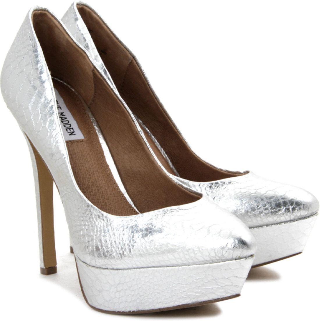 Steve Madden Artist Heels - Buy Silver Color Steve Madden Artist ...