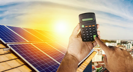 Solar Energy Calculation Photos Royalty Free Images Graphics Vectors Videos Adobe Stock In 2020 Photovoltaic Solar Panels Solar