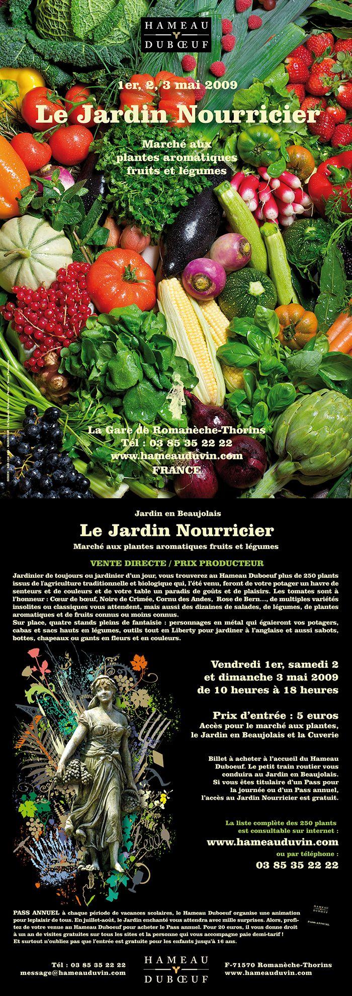 Hameau Dubœuf, Affiche Le Jardin Nourricier, Photo Yann Pendaries, printemps 2009©markcom