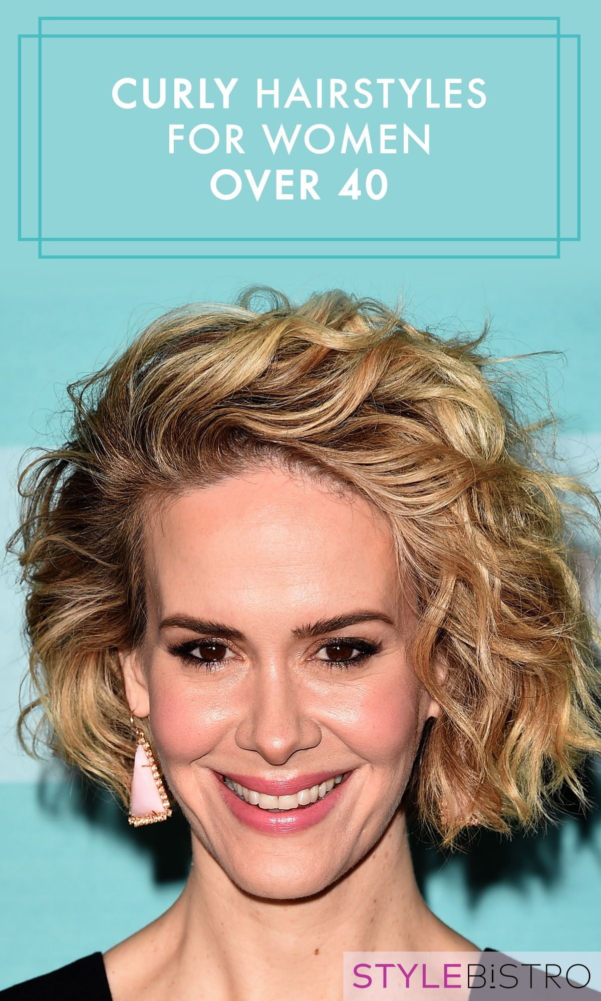 Hairstyles For Women Over 40 With Curly Hair Mid Length