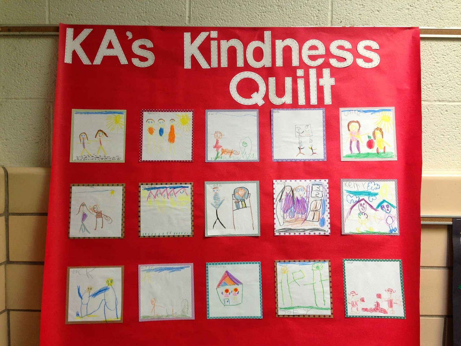 We Discussed Different Examples Of Kindness And Then Each