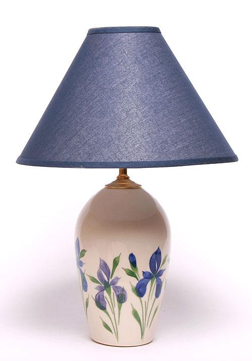 Field Of Iris Large Lamp Emerson Creek Pottery Lamp Pottery Lamp Large Lamps