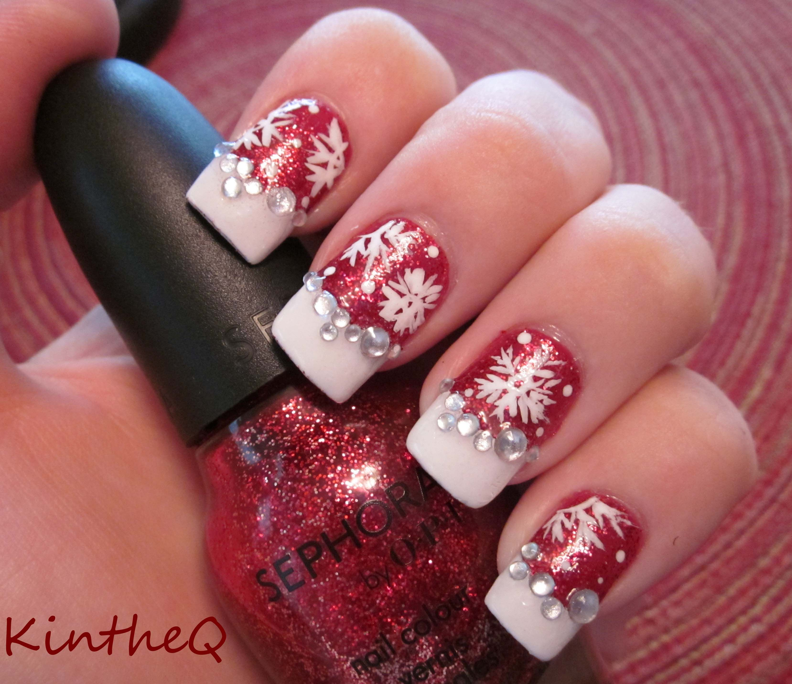 """Christmas Nails On Black Hands: Sephora By OPI """"Merry Me'"""" With"""