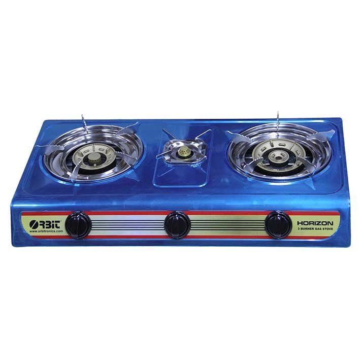 3 Burner Gas Cooker Used For Lpg Gas With Brcap Electronic Auto Ignition Drip Pan With Round S Steel Plates With Brburner Cap