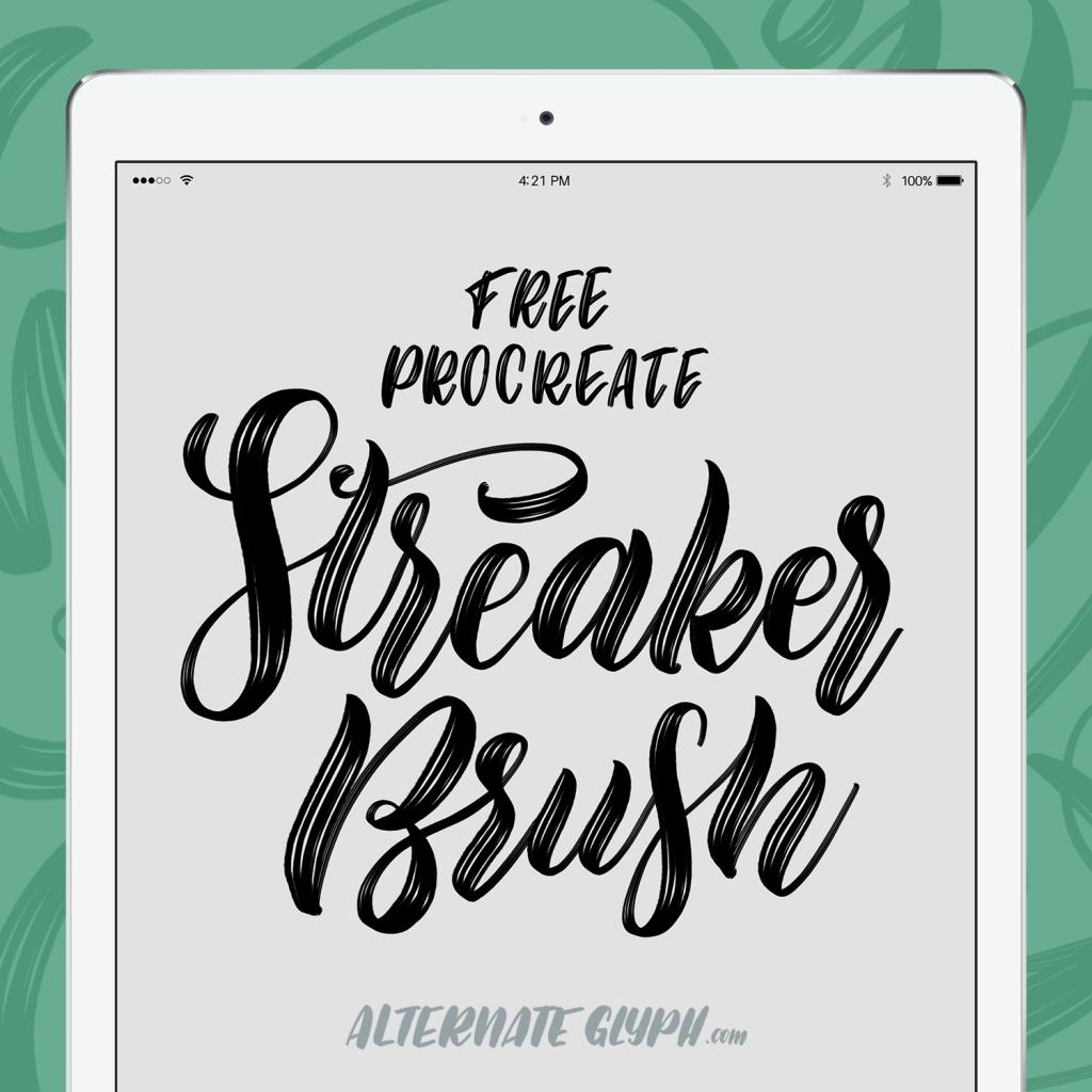 free-streaker-brush | lettering