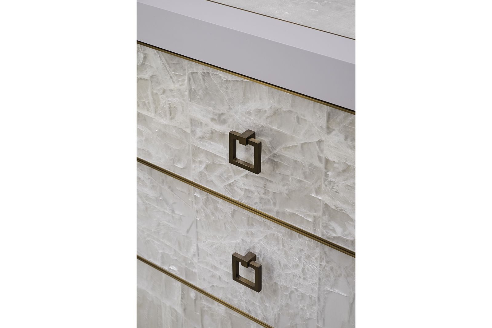 Sideboard Tv Lift sideboard w/ tv lift in gypsum, lacquer & bronze | gypsum furniture