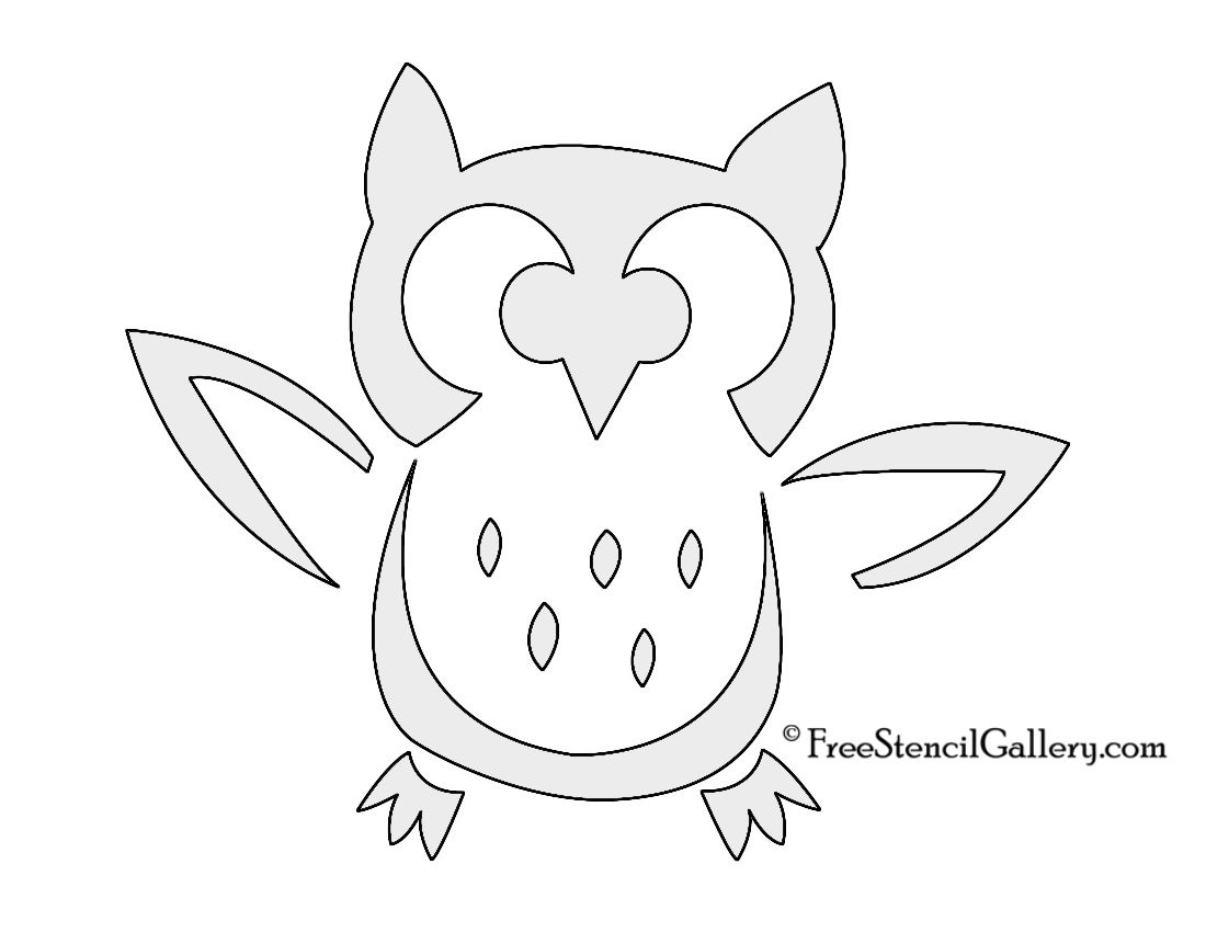 Free Printable Owl Stencils  owl  Pinterest  Owl stencil Owl