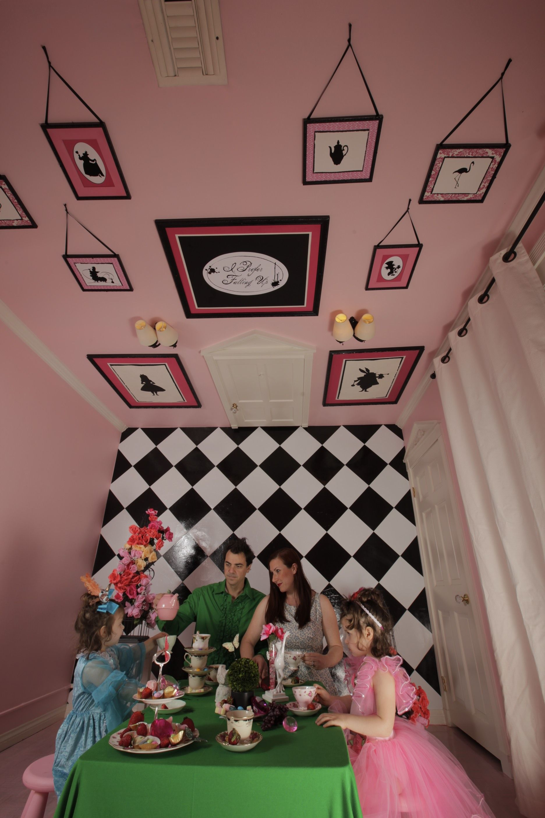 The alice room i have been to their house seriously for Alice in wonderland kids room