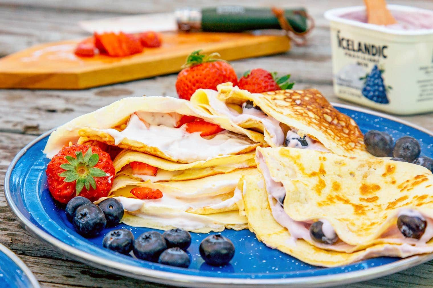 Pönnukökur Icelandic Pancakes with Skyr Recipe Food