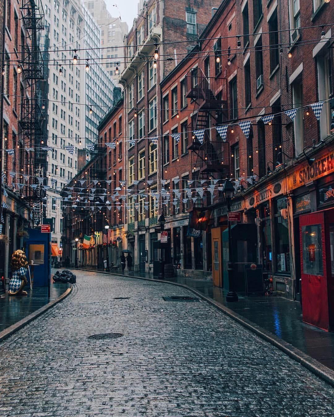 Ny Manhattan: Stone Street Lower Manhattan