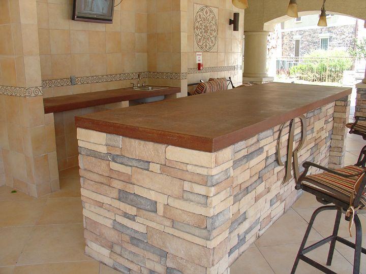 Tile Bar Top Ideas concrete-bar-top-austin-l 720×540 pixels | basement