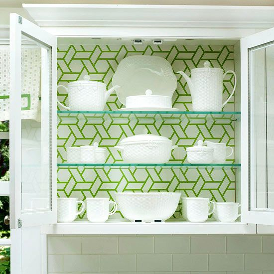 Kitchen Cupboards Wallpaper: Low-Cost Cabinet Makeovers