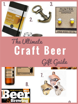 Whether you have someone on your gift list who loves craft beer or you're buying for a serious homebrewer- I've found the gift for them! Here's my guide to gifts for that craft beer lover in your life: