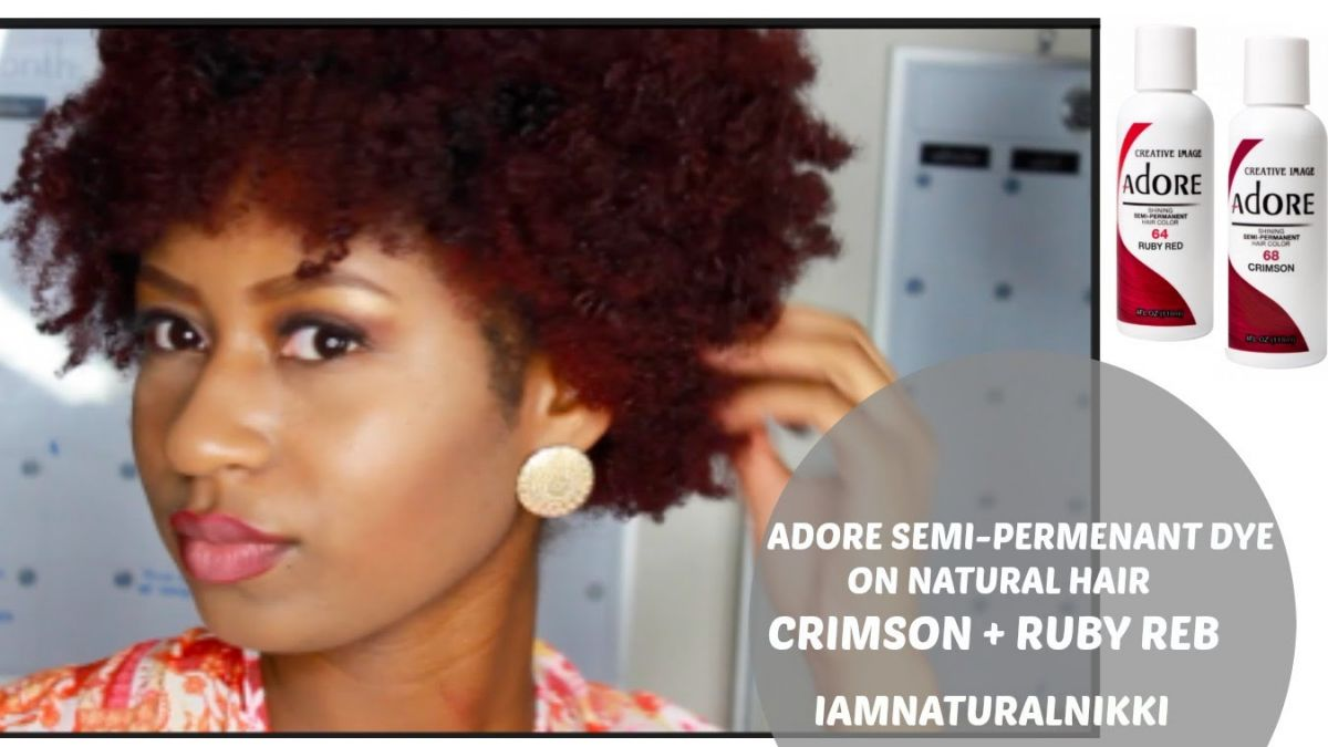 Semi Permanent Hair Color On Natural Hair Best At Home Semi