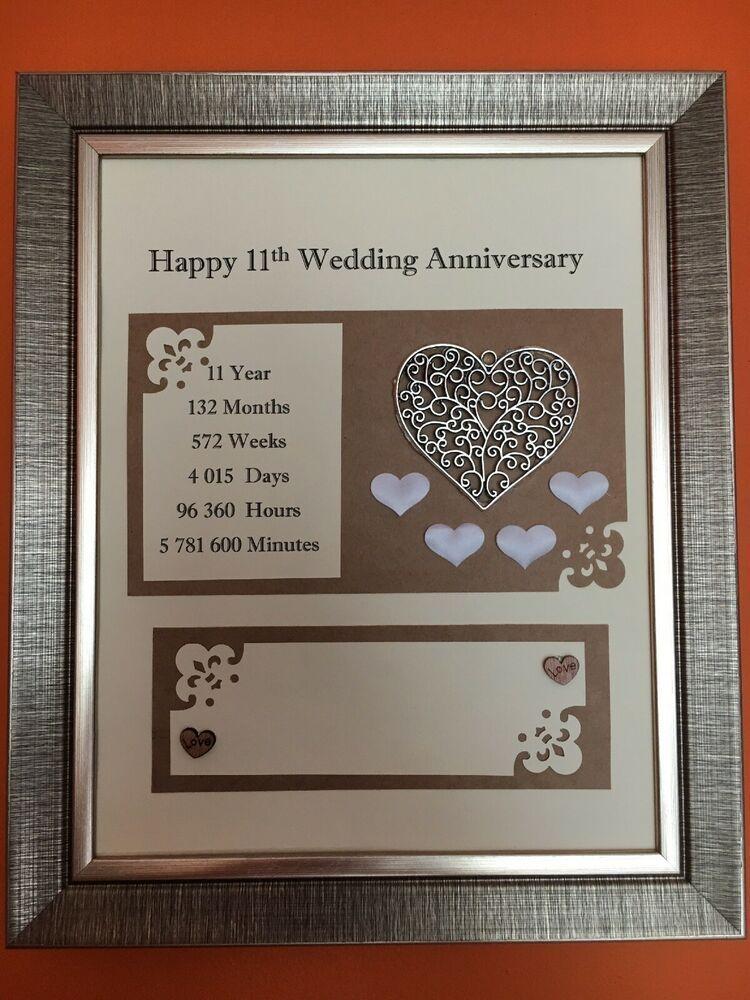11th Steel Wedding Anniversary Frame Rustic Gift 3d Handmade Love 24x29cm Ebay Anniversary Frame Wedding Anniversary Cards Rustic Gift
