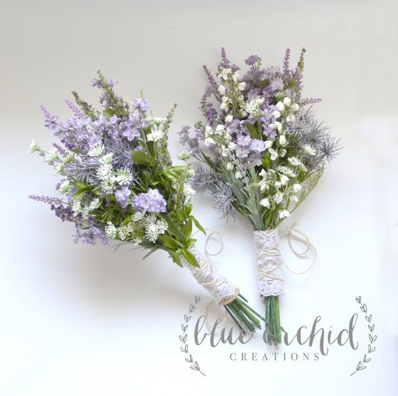 Purple Wildflower Bouquet Rustic Bouquet Lavender Wildflower Bouquet Shabby Chic Bouquet Bridal Bouquet Boho Bouquet Buket