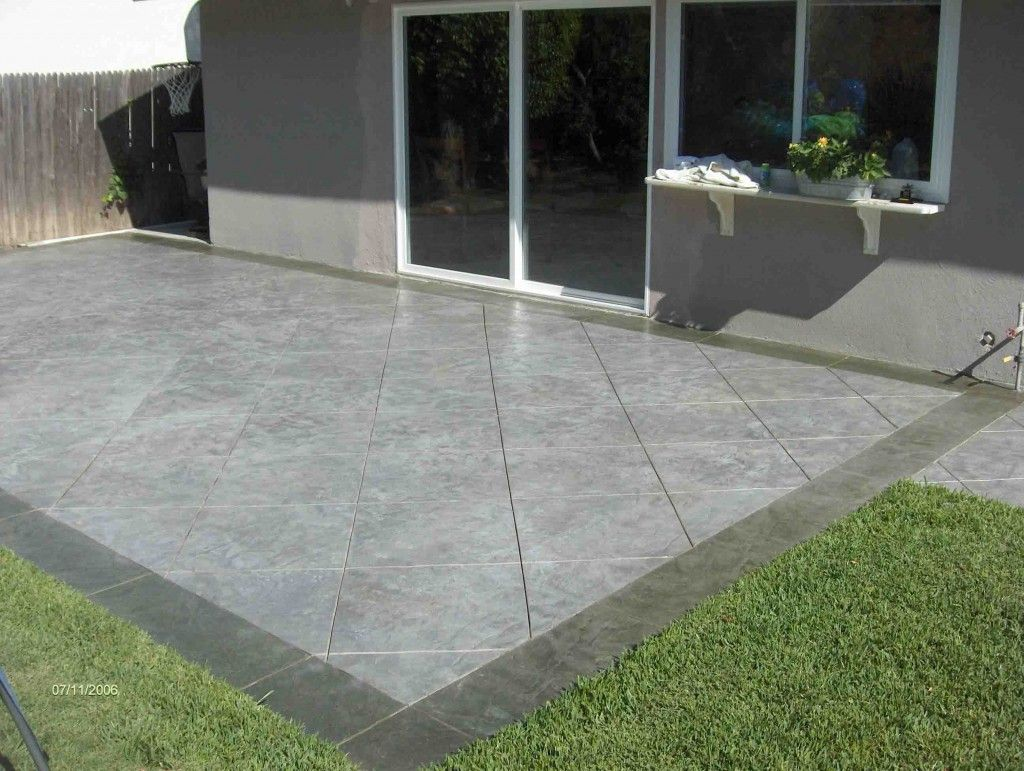 stamped concrete patio designs do cost cheaper than the. Black Bedroom Furniture Sets. Home Design Ideas