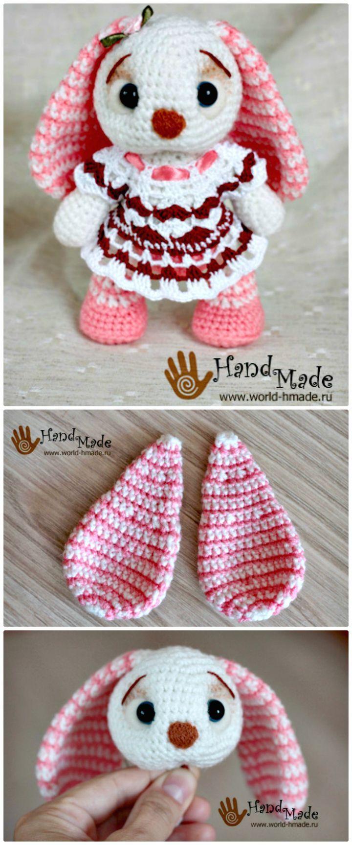 Crochet Cute Bunny Amigurumi | AMiguris | Pinterest | Patrones ...