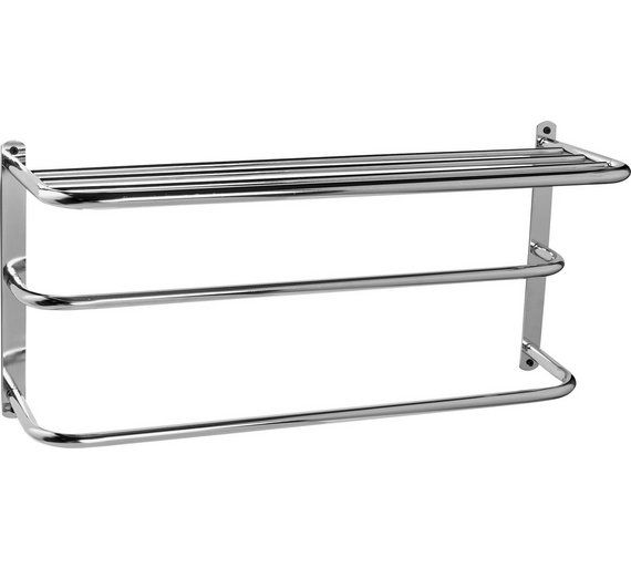 Buy Home Metal Towel Rail With Shelf At Argos Co Uk Visit Argos Co Uk To Shop Online For Towel Rails And Rings Bathroom Accessories Home Fur Home Wall