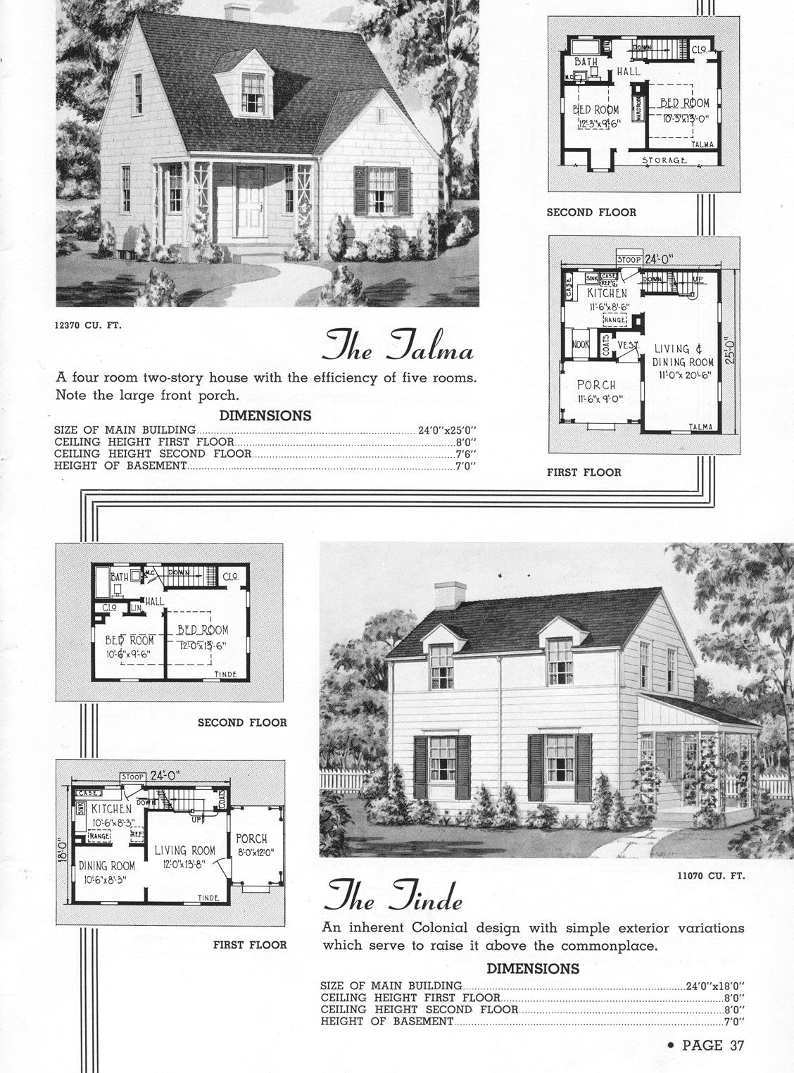 1920 S The Talma Is A Great Little House Vintage House Plans Bungalow House Plans Small House Plans