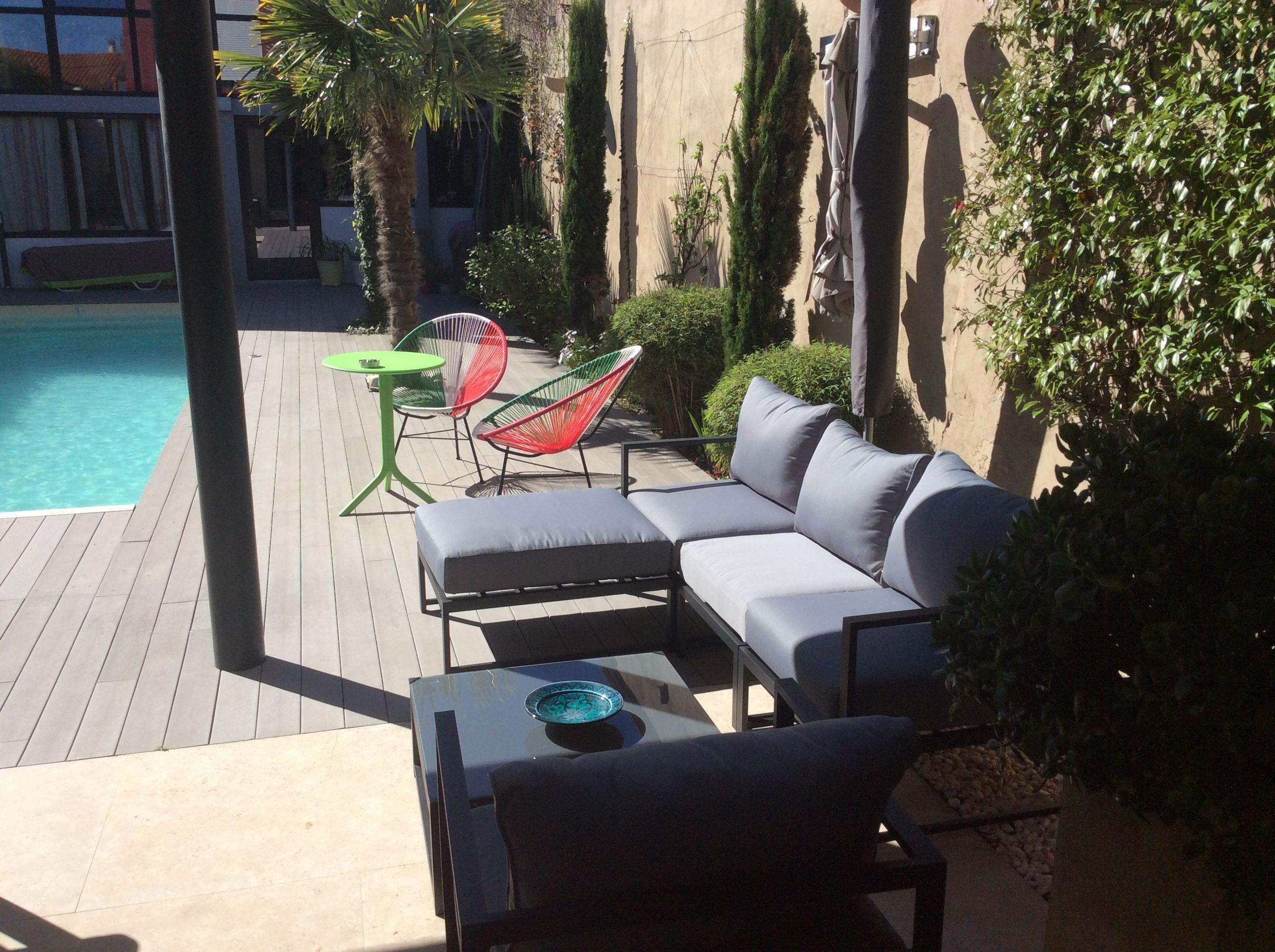 Acatium : Salon de jardin 5 places en aluminium, confort optimal ...