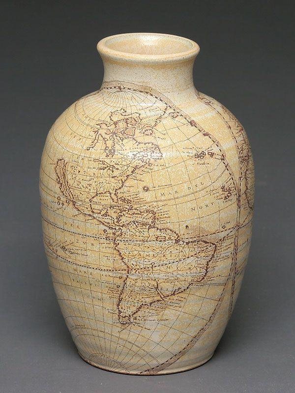 World map vase home decor organization cleaning etc world map vase gumiabroncs Images