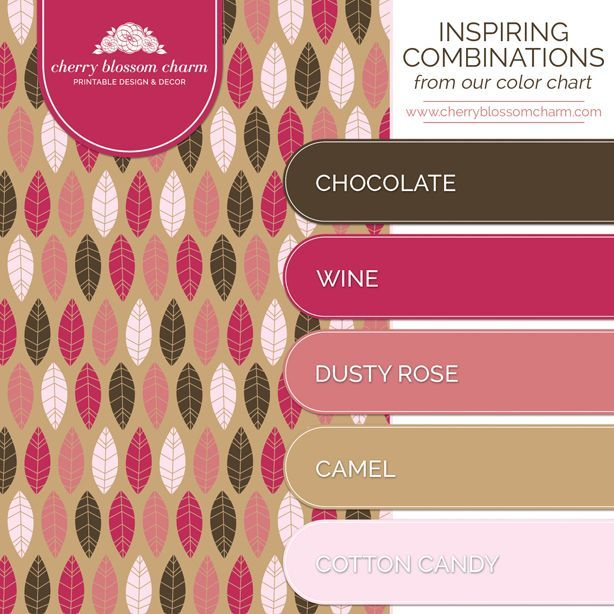 Color Combinations Schemes Chocolate Brown Cherry Blossoms Pink