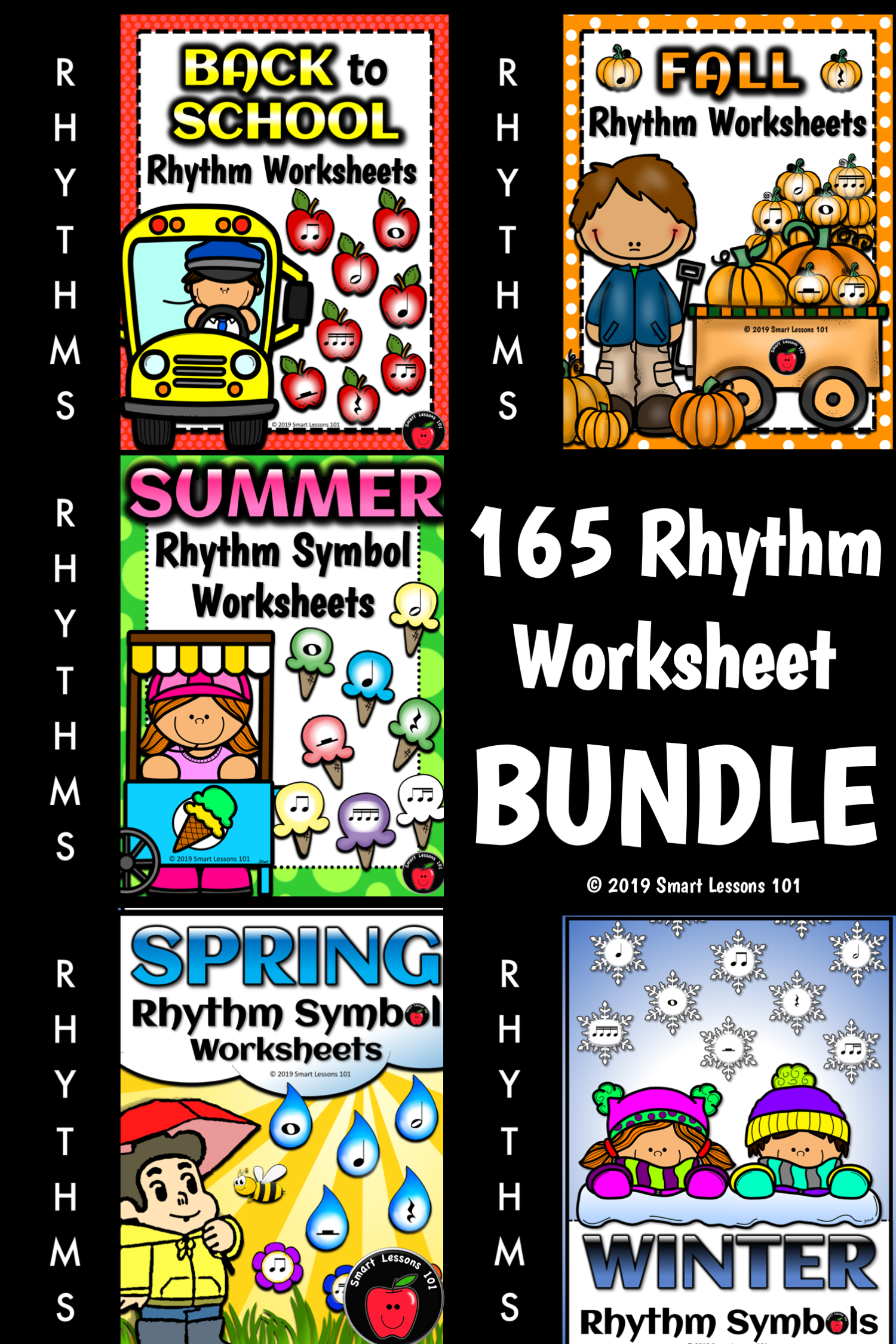 Rhythm Worksheets For The Whole Year 165 Rhythm Symbol