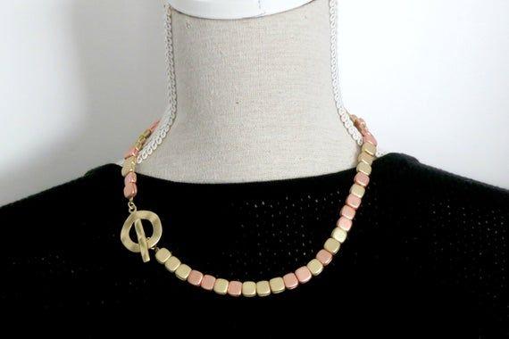 Photo of Umschaltkette, Edelsteinperlenkette, goldene Perlenkette, quadratische Perlenkette