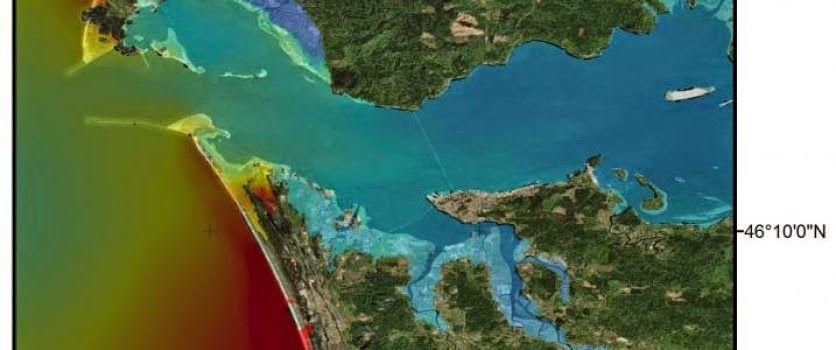 Impact of tsunami on the columbia river columbia river