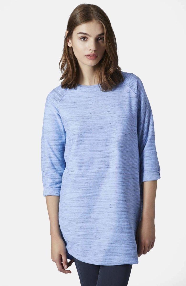 c0beb725a83 29.00   NEW topshop Space Dye Blue Tunic dress Shirt XS 0 2 ❤ #
