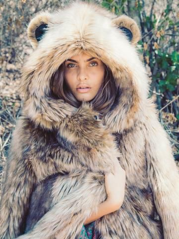 grizzly faux fur coat by spirit hoods wear it well fur. Black Bedroom Furniture Sets. Home Design Ideas