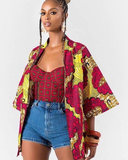 Astonishing Ankara Kimono #nigeriandressstyles