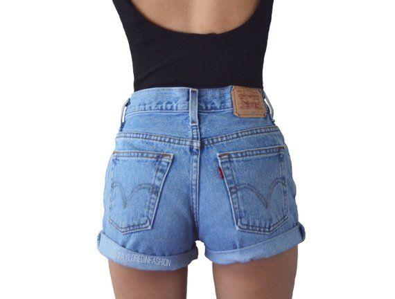 540891992e Levi's High Waisted Shorts MANY SIZES | Products | Levi high waisted ...