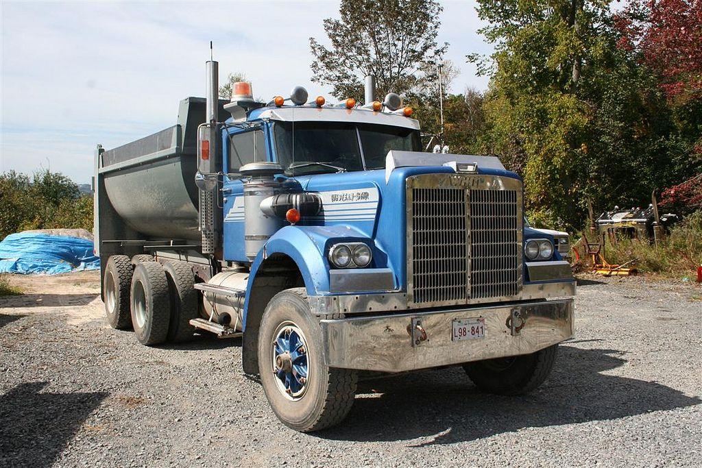 Dompeur White Western Star Dumptruck Dump Trucks White Western