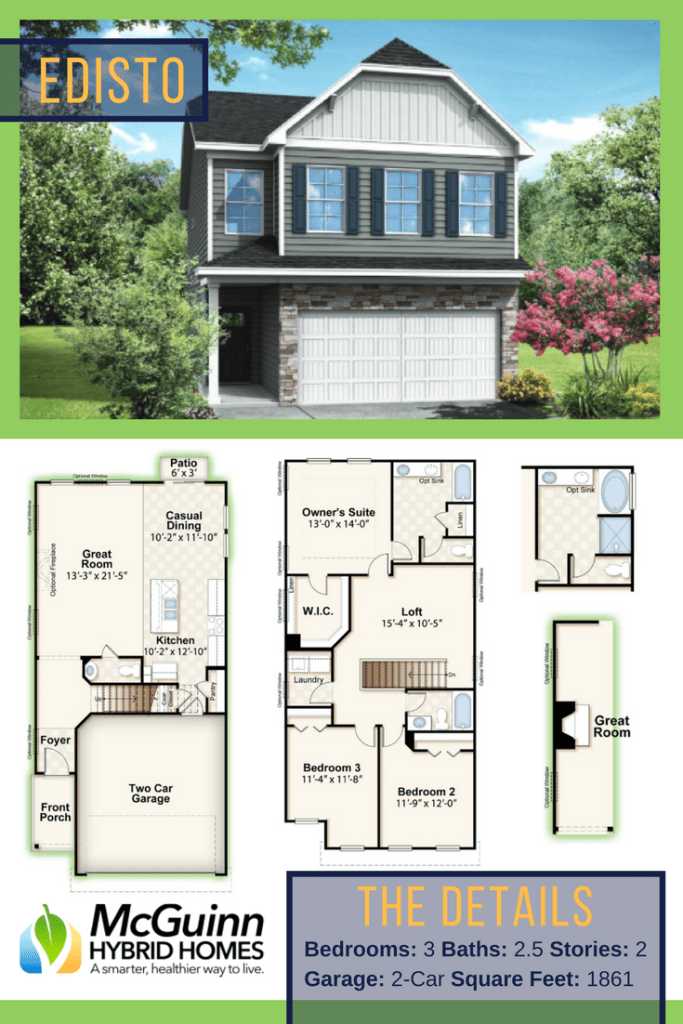 Are You Looking For Your Starter Home Floor Plan Discover The Flexibility And Spacious Edisto Floor Plan With 3 Bedrooms And 2 5 Bathrooms This Floor Plan Is