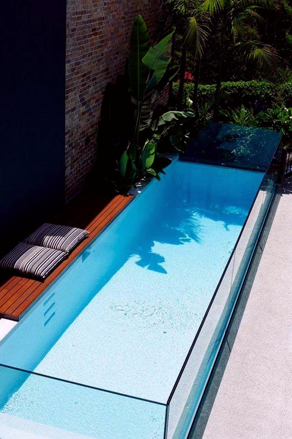 35 Small Backyard Swimming Pool Designs Ideas You Ll Love Homelovers Kolam Kecil Kolam Taman Arsitektur