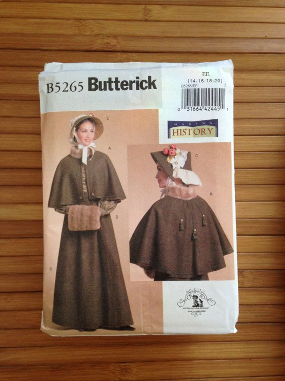 Butterick Pattern B5265 Victorian Size 14 16 18 20 EE