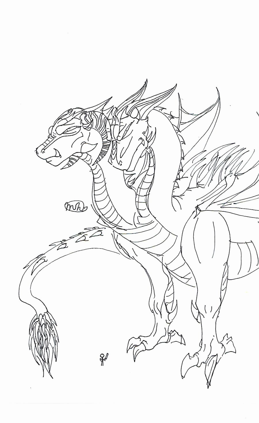 Coloring Pages For Kids Two Headed Dragon Dragon Coloring Page Coloring Pages For Kids Dinosaur Coloring Pages