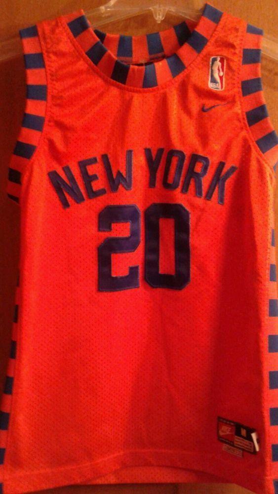 9e0f1340f ... amazon the best attitude b8103 d6b67 new york knicks nike jersey allen houston  throwback youth medium ...