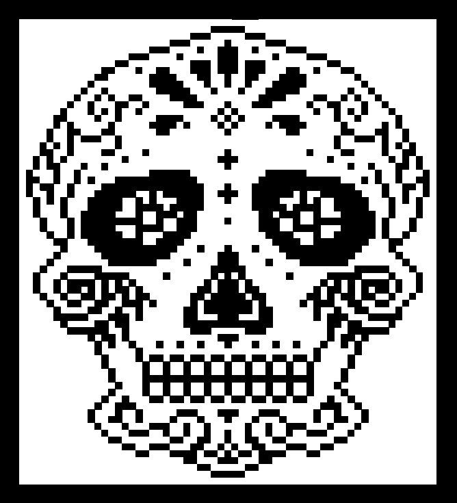 C2C Graph, Sugar Skull Afghan C2C Crochet Graph with Written Word ...
