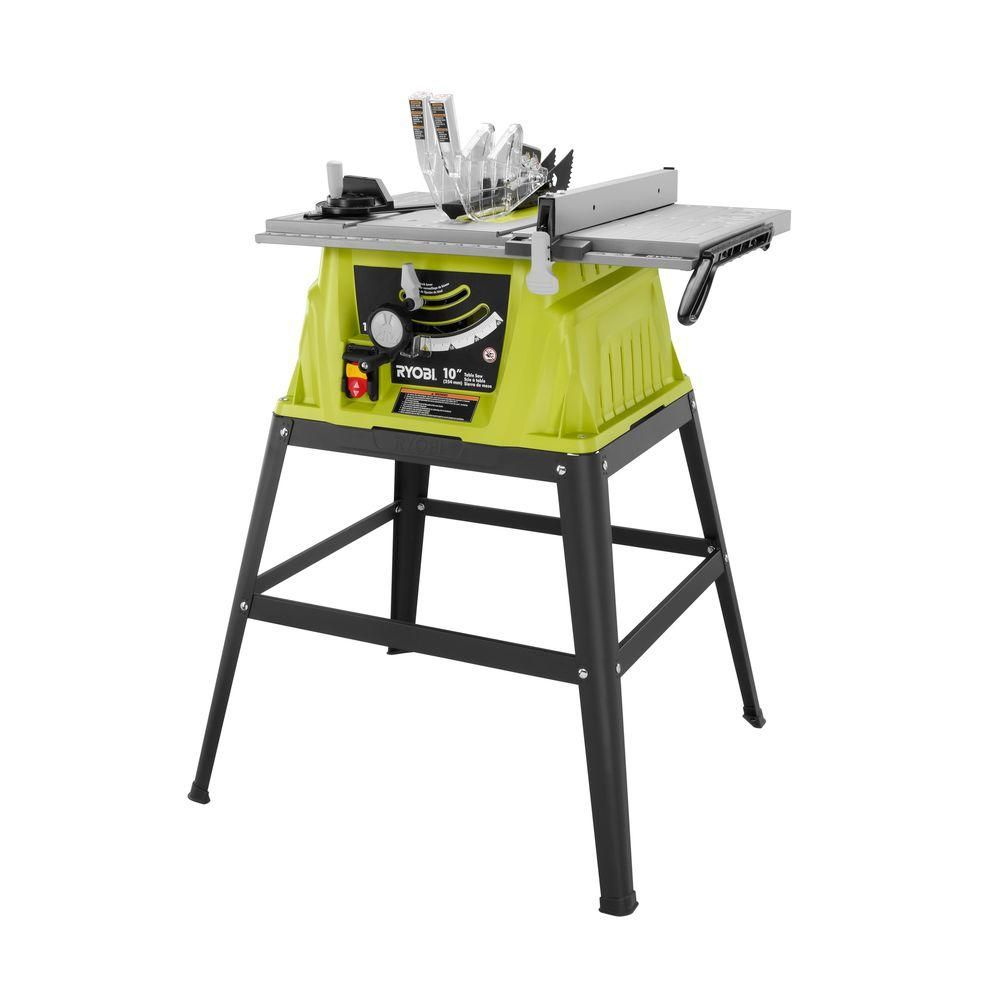 Ryobi 10 In 15 Amp Table Saw Rts10g The Home Depot Ryobi