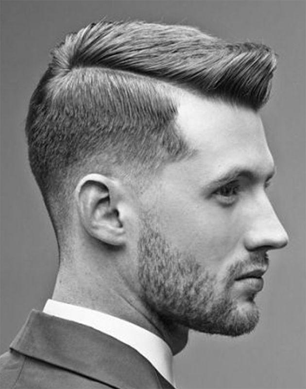 coiffure homme raie