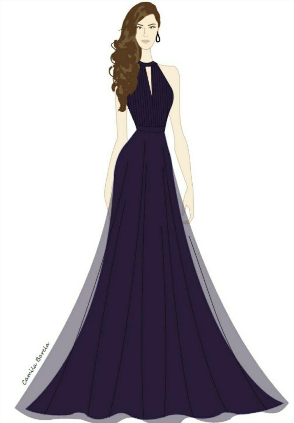 4be1e0eae5 Vestido longo violeta. Vestido drapeado