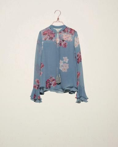Blue Bouquet Blouse