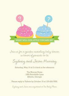 Cupcakes Baby Shower Invitation
