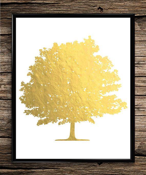 Gold Tree   Modern Prints   Gold Prints   Office Decor   Home Decor   Printable Wall Art   Modern Wall Art   Instant Download