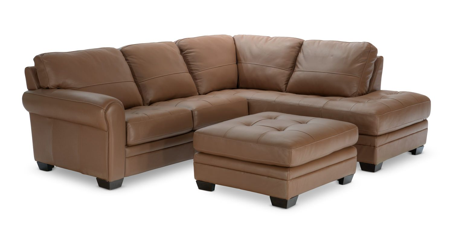 Bon Norman 2 Piece Leather Modular Sectional With Matching Ottoman Furniture  Retailers, Furniture Stores,